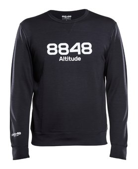 8848 Altitude Terry Wool Sweat Black