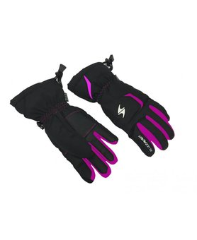 Blizzard Rider Junior ski gloves black/pink