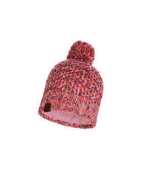 Buff Knitted and Polar hat Margo Flamingo Pink