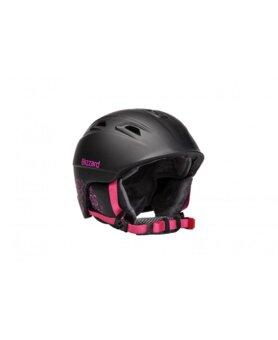 f4c141936 BLIZZARD VIVA DEMON ski helmet, black matt/magenta flowers