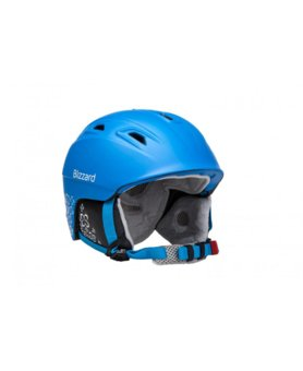 BLIZZARD VIVA DEMON ski helmet, blue matt/white flowers