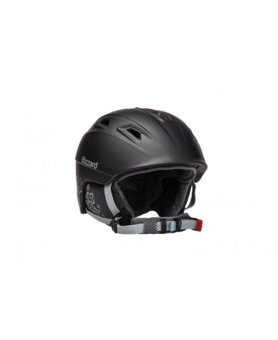 BLIZZARD VIVA DEMON ski helmet, black matt/silver flowers