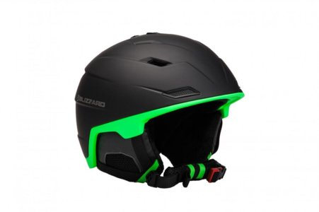 BLIZZARD DOUBLE ski helmet, black matt/neon green
