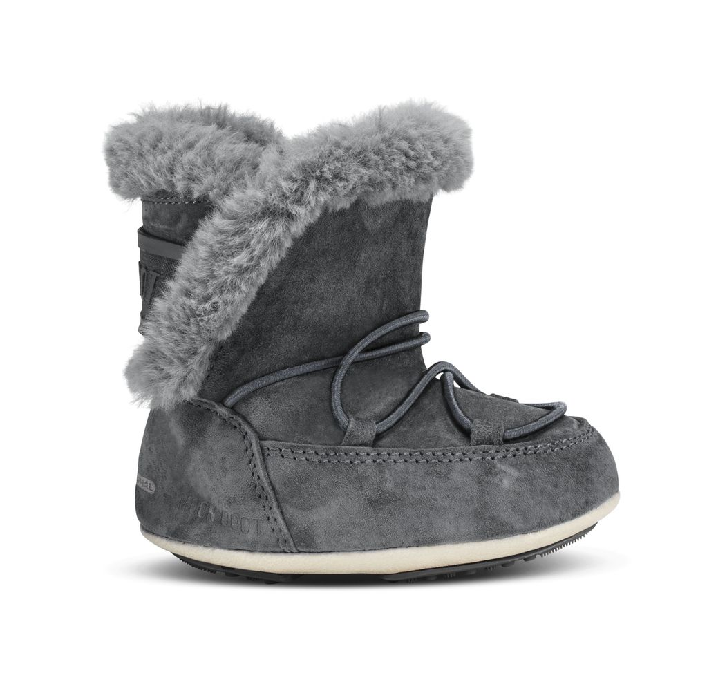 Moon Boot Crib Suede Dark Grey