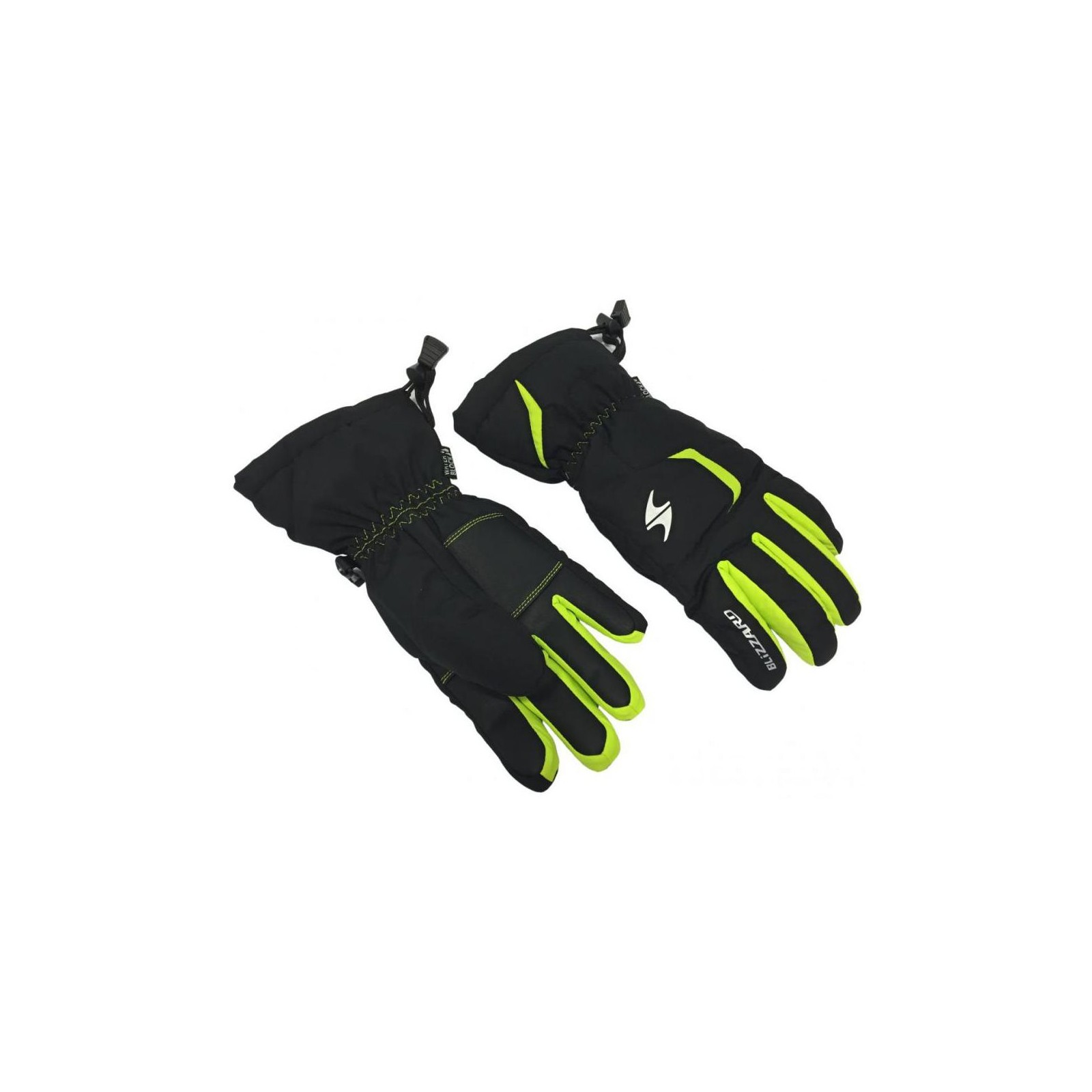 Blizzard rider junior ski gloves black green - juniorske-lyziarske-rukavice- blizzard a2e410791a8