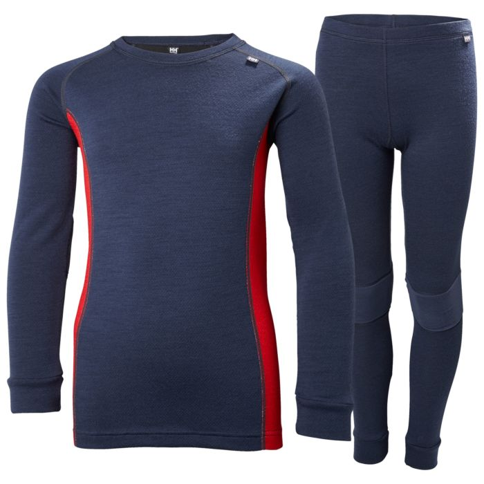Helly Hansen JR Lifa Merino Set Evening Blue