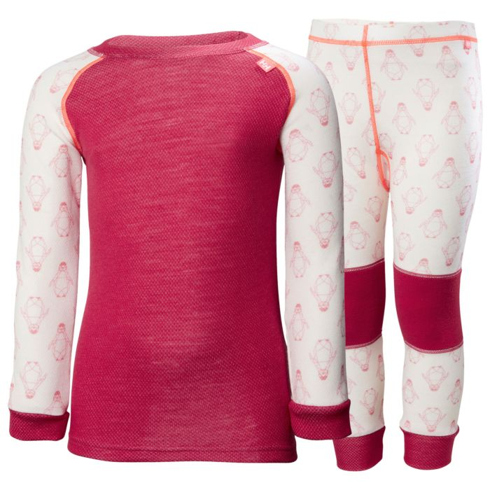 Helly Hansen K Lifa Merino Set Persian Red