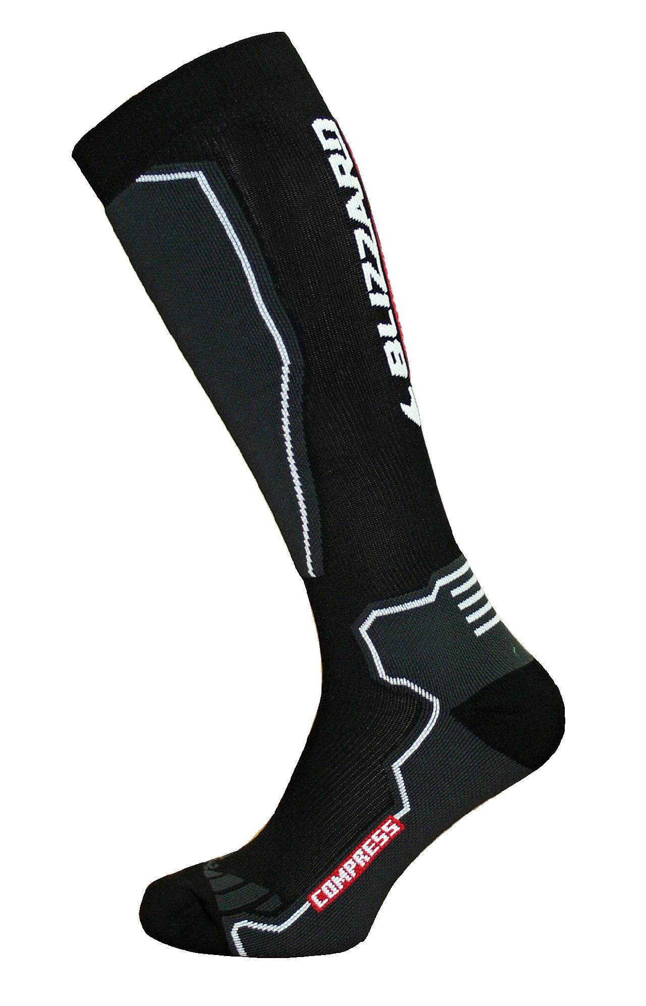 BLIZZARD Compress ski socks black/grey