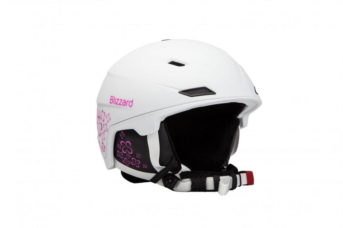 39c7ee890 BLIZZARD VIVA DOUBLE ski helmet, white matt/magenta flowers