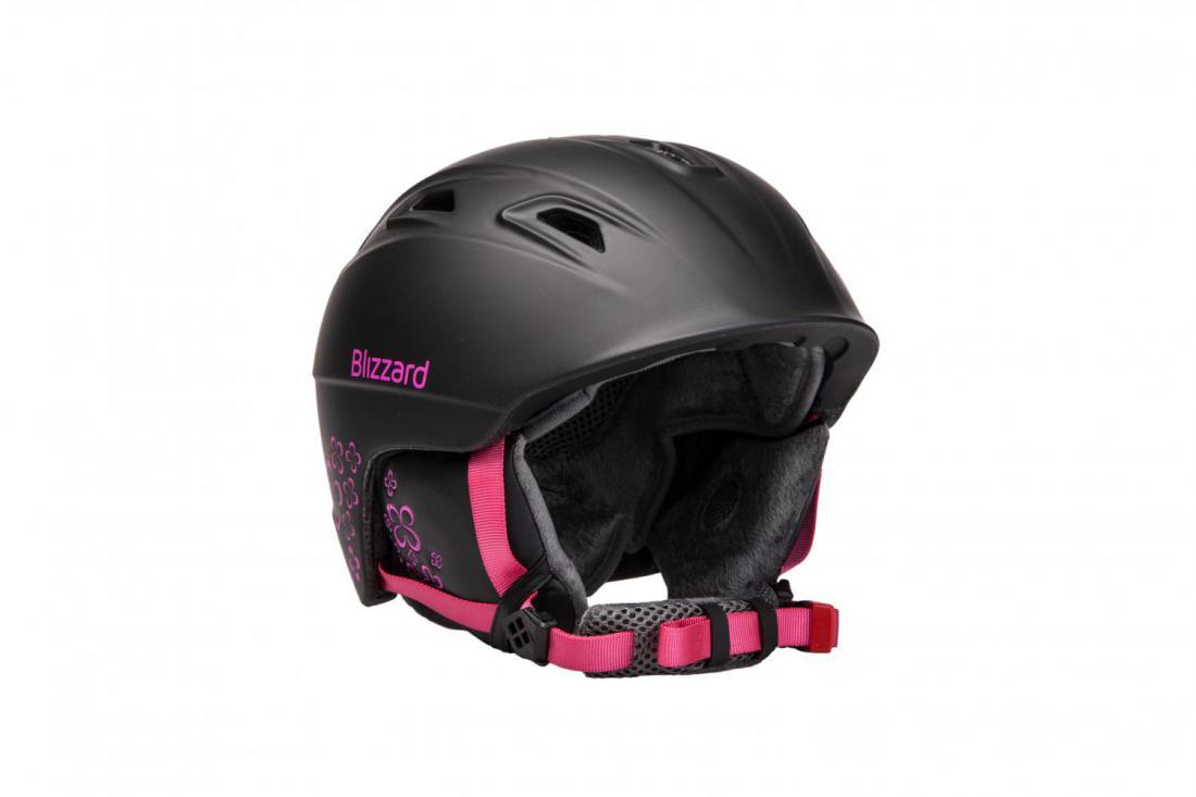 b594b9b26 BLIZZARD VIVA DEMON ski helmet, black matt/magenta flowers