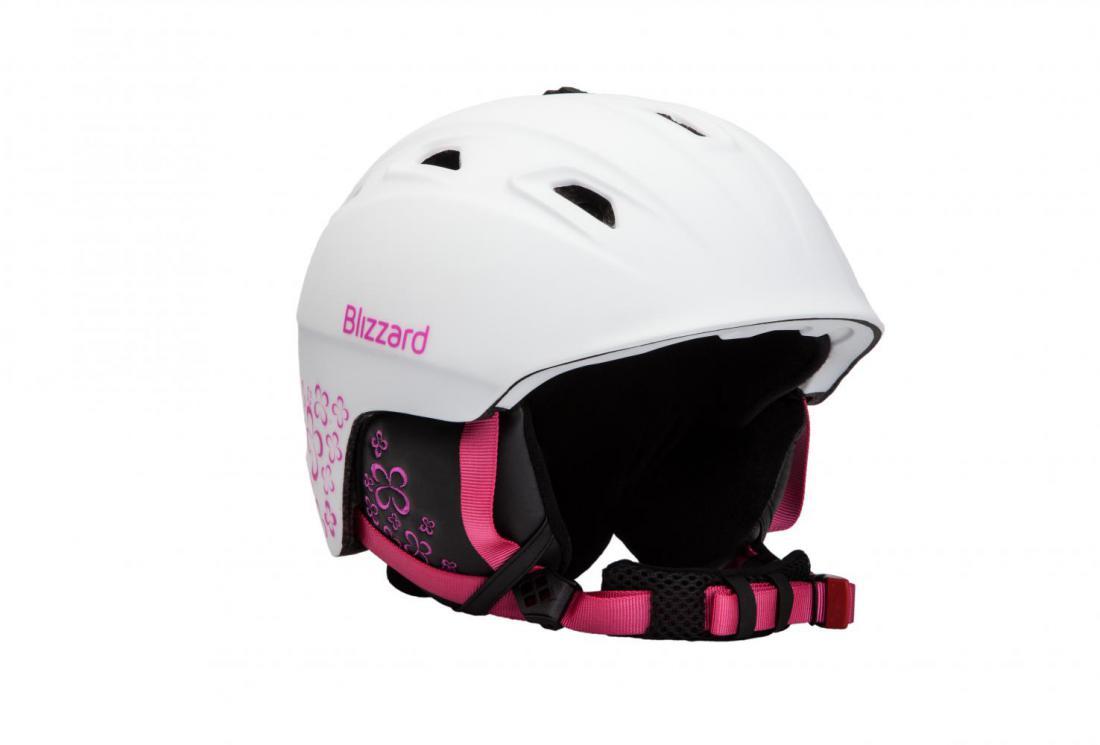 68c4bddbd BLIZZARD VIVA DEMON ski helmet, white matt/magenta flowers