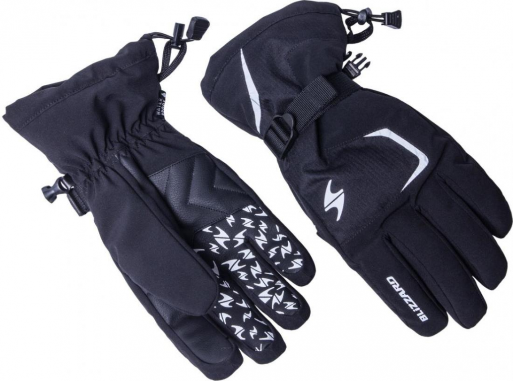 Blizzard Reflex ski gloves black/silver